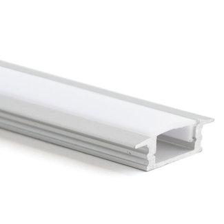 LED-nauhan alumiiniprofiili 2,5 m upotettava 17,5x7 mm