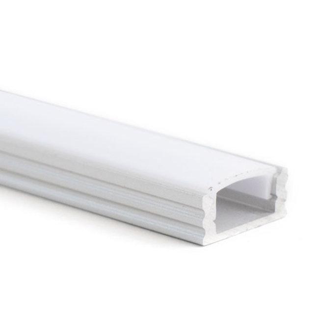 LED-nauhan alumiiniprofiili 2,5 m pinta-asennettava 17,5x7 mm