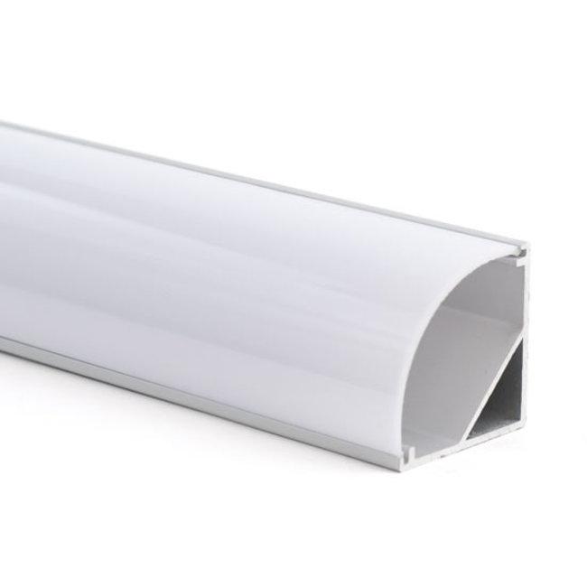 LED-nauhan alumiiniprofiili 2,5 m kulma 30x30 mm