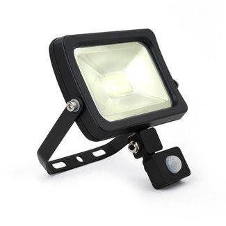 LED-valonheitin tunnistimella 30W 4000K luonnonvalkoinen IP65 musta