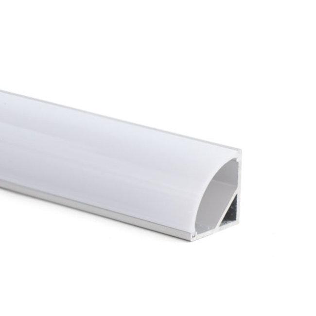 LED-nauhan alumiiniprofiili 1 m kulma 20x20 mm
