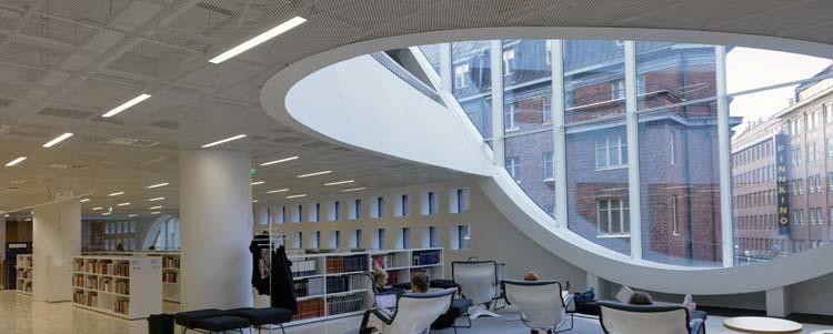 LED-valoilla viihtyisyyttä luentosaleihin ja luokkahuoneisiin.