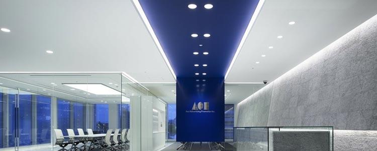 LED-valot ovat olennainen osa modernin toimiston ilmettä.