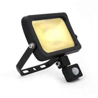 LED-valonheitin tunnistimella 30W 3000K lämmin valkoinen IP65 musta