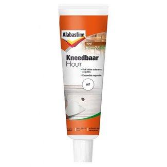 Alabastine kneedbaar hout 75 gram wit