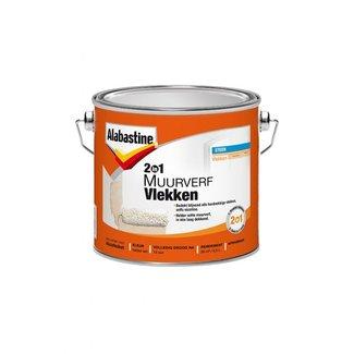 Alabastine 2in1 Muurverf vlekken Wit - 2.5 ltr