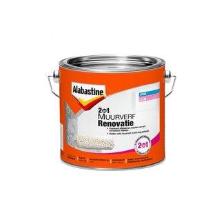 Alabastine 2in1 Renovatieverf 2.5 ltr wit