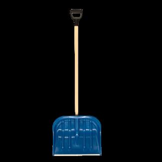 Talen Tools Sneeuwschuif kunststof blauw 50cm met steel