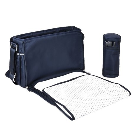 Emporio Armani Changing bag with changing mat blue