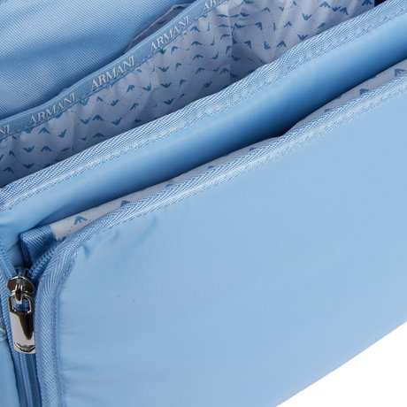 Emporio Armani Luiertas met verschoningsmatje lichtblauw