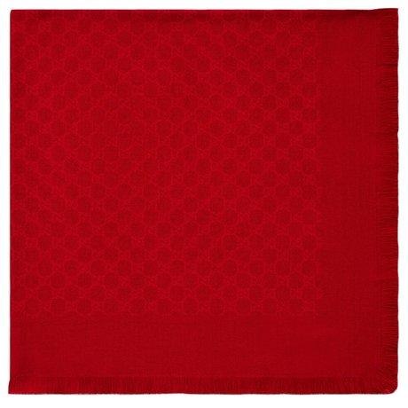 Gucci Wol en zijden sjaal GG