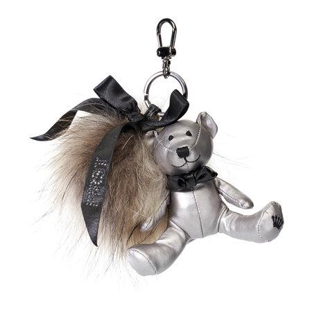 First Keychain with fur pompom