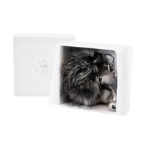 Keychain with fur pompom