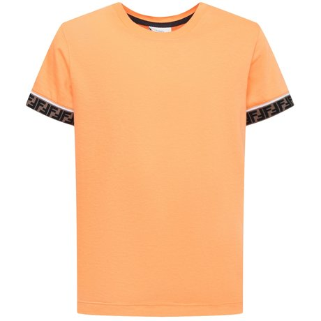 Fendi T-shirt met logo band