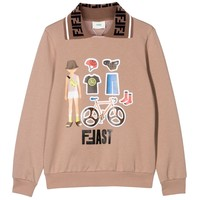 Sweater met logo kraag
