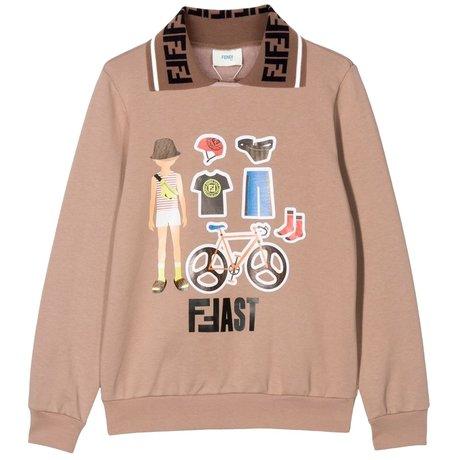 Fendi Sweater with logo collar