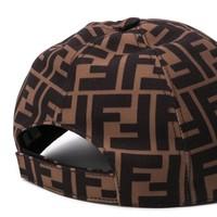 Fendi Cap with logo print