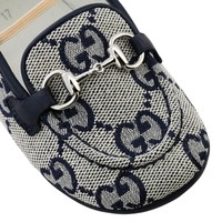 Gucci GG canvas loafer met bit