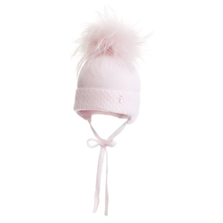 Baby hat with pompom