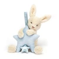 Jellycat Star Bunny Blue Musical Pull 28cm