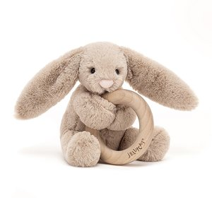 Bashful Bunny Wooden Toy