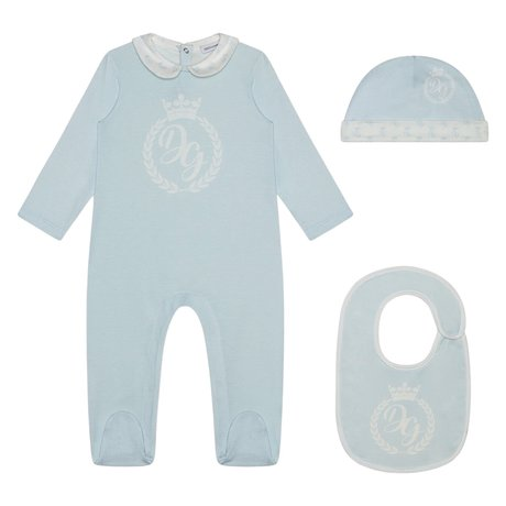 Dolce & Gabbana Baby suit with hat and bib