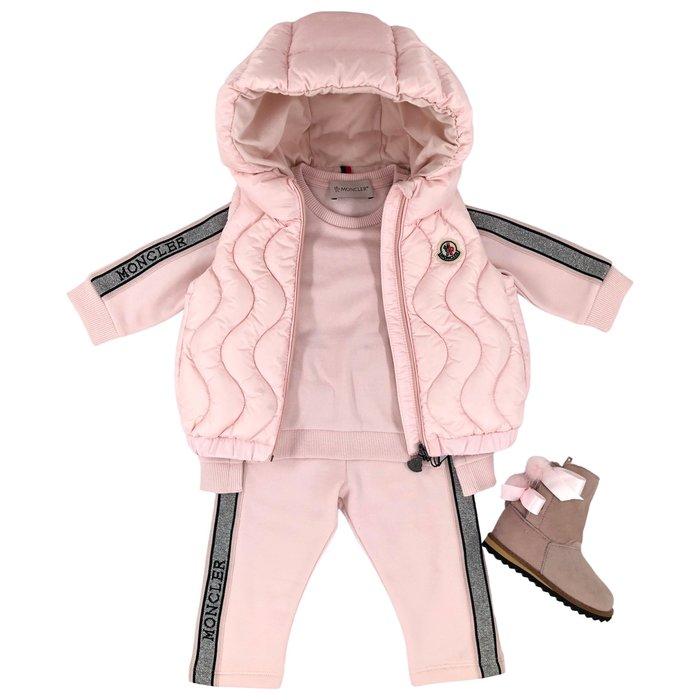 Moncler roze set