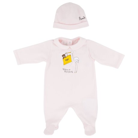 Baby suit with hat
