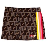 Skirt with FF print
