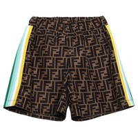 Shorts with FF all-over logo
