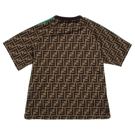 Fendi T-shirt met FF all-over logo