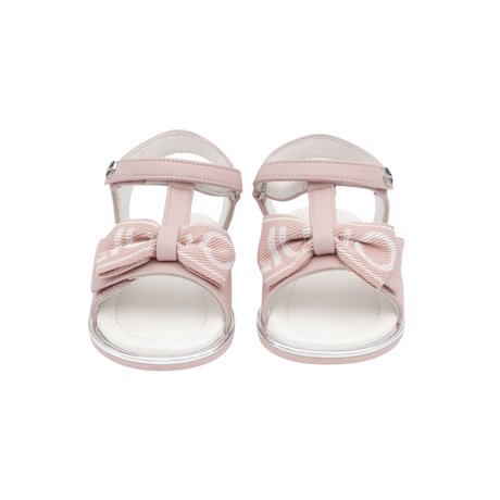 Pink sandals with bow