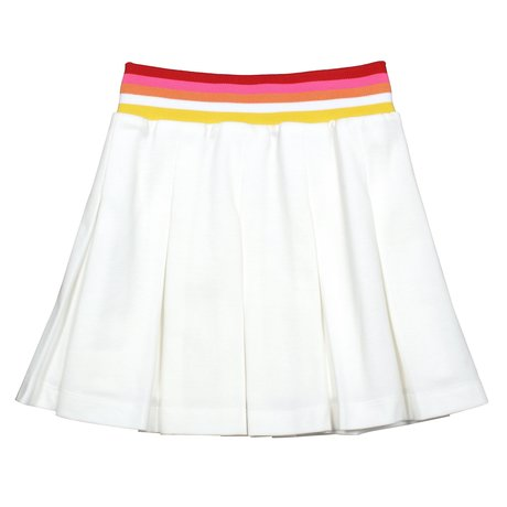 Skirt with colored band