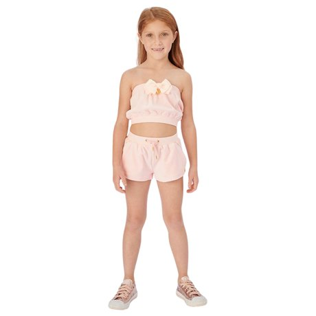 Top and shorts in velor