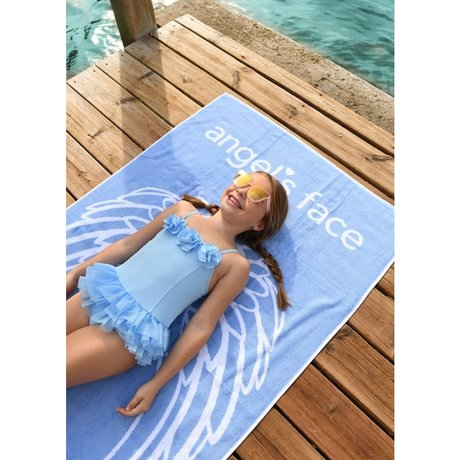 Beach towel with logo
