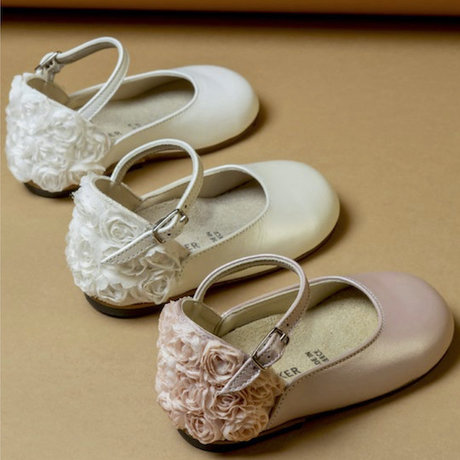 Ballet flats with flowers