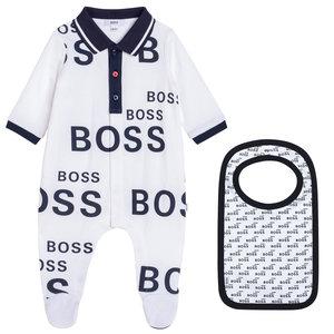 Baby suit with bib