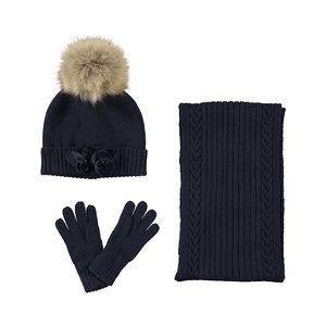 Muts, sjaal en handschoenen set