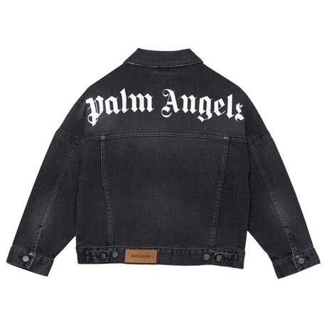 Denim jacket with logo