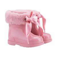 Rain boots with eco fur
