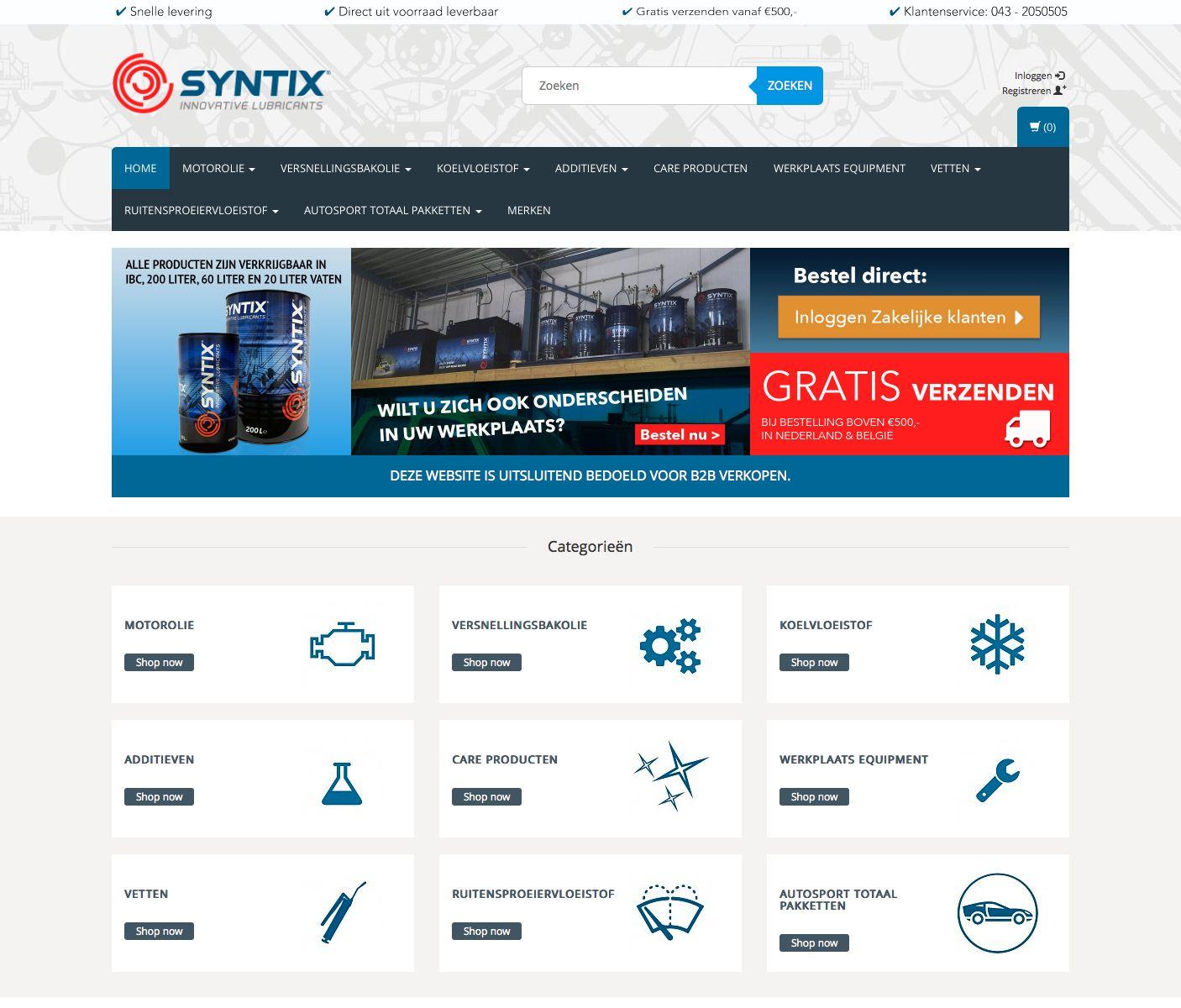 NIEUW! B2B webshop voor de zakelijke SYNTIX gebruiker.