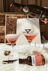 Geschenkkist Cava & glazen & Edelweiss Kriek