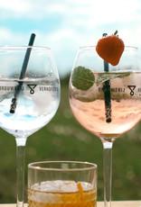 Glas Verhofstede Gin op voet