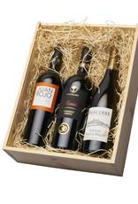 Geschenkkist met wijn uit Spanje, Frankrijk & Italië