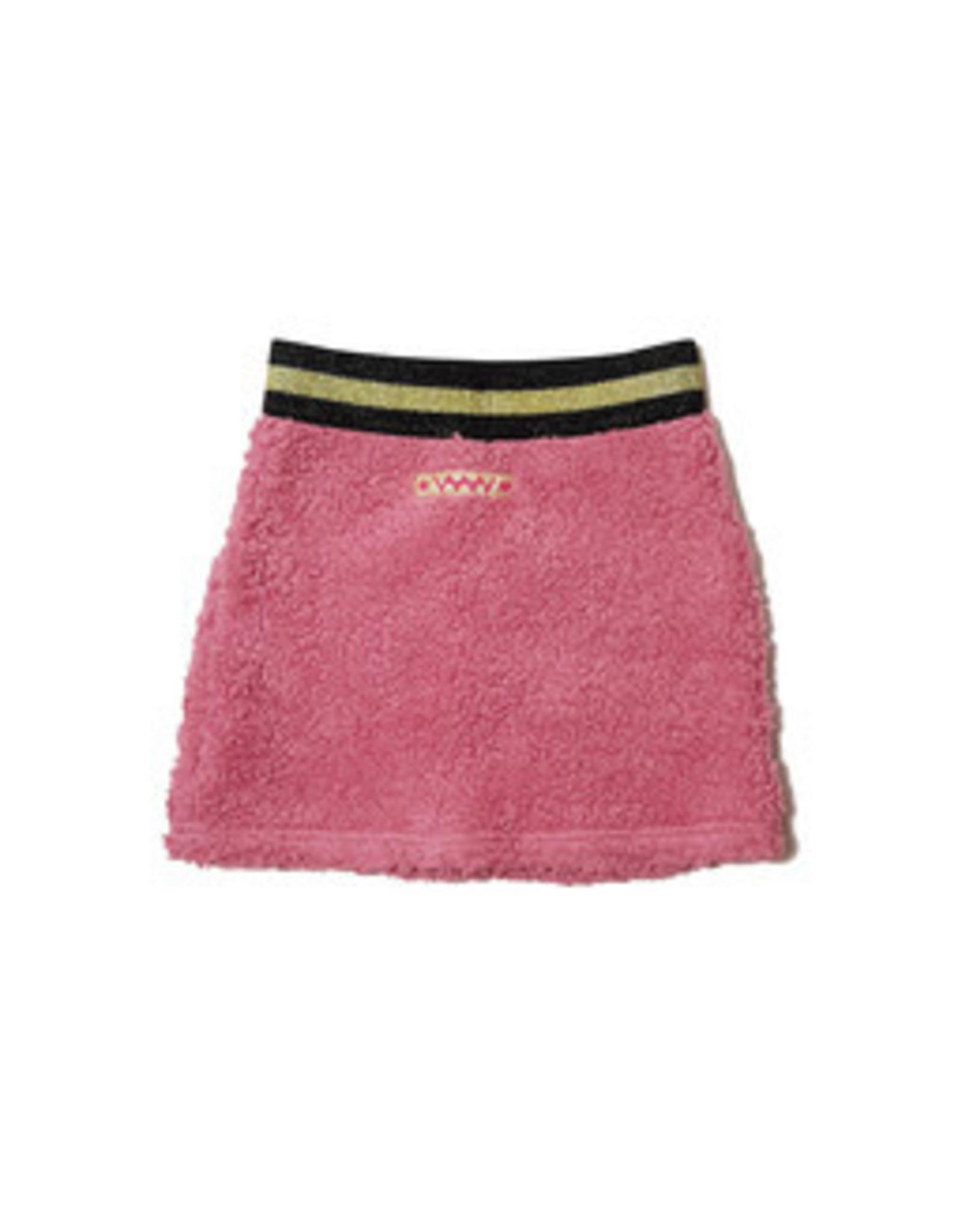 Waaaw Skirt Teddy old pink maat 134/140