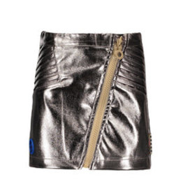 B-nosy Girls fake leather skirt with zipper, folded pleat parts on side