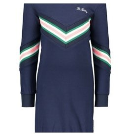 B-nosy Girls dress with knitted knit at front and sleeve