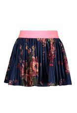 B.Nosy Girls printed velours plissé skirt