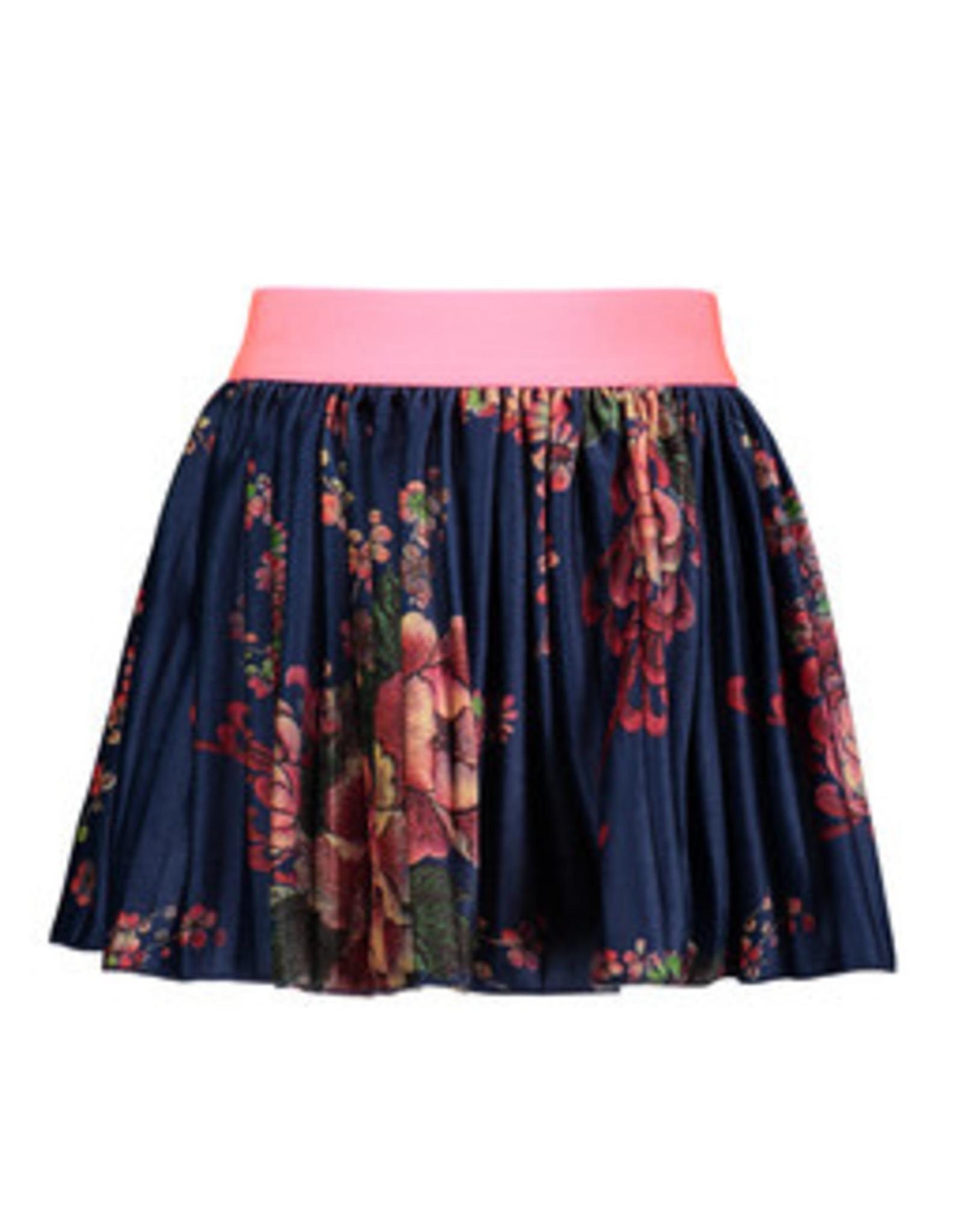 B-nosy Girls printed velours plissé skirt