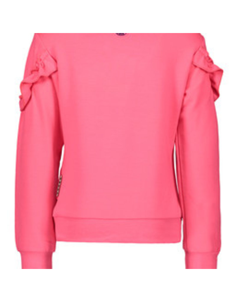 B-nosy Girls sweater with ruffle detail